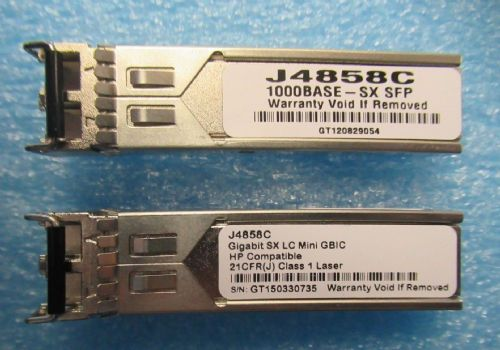2 x HP J4858C SFP 1Gb Gigabit 1000BASE-SX 850nm MMF Transceiver Module